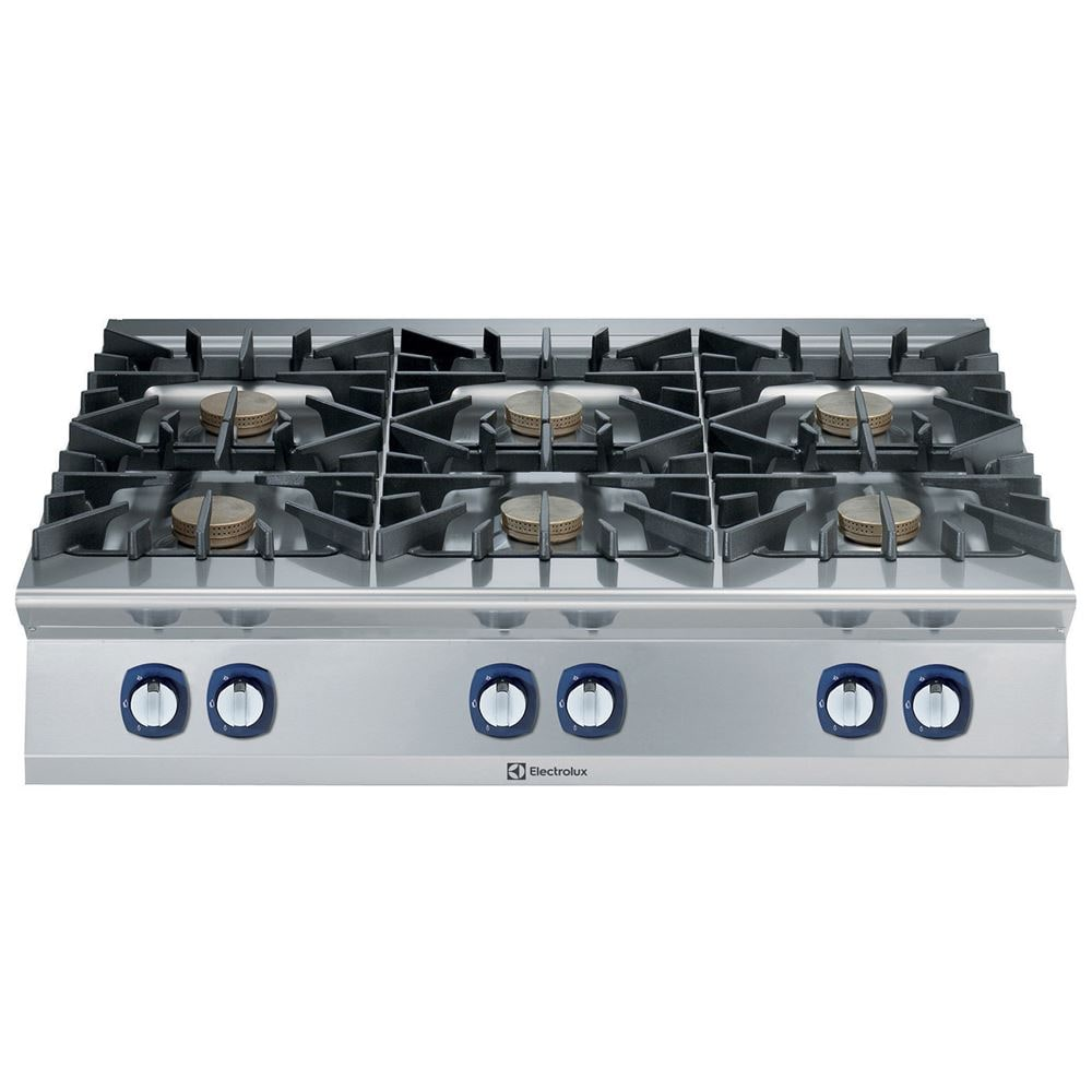 Cucina gas 6 fuochi (6x10 kw) Electrolux - Dimensioni 1200x930x250 ...