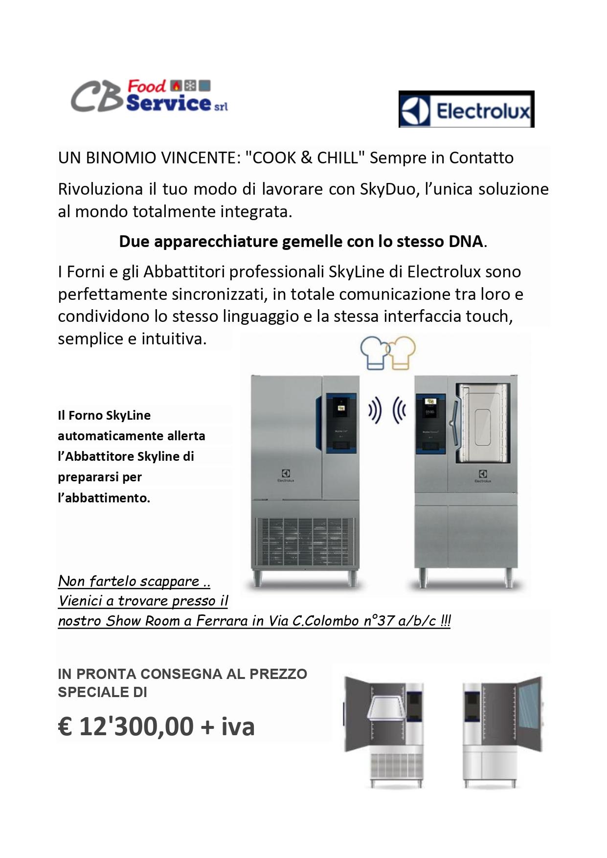 Super Occasione Electrolux: Forno+Abbattitore Skyline